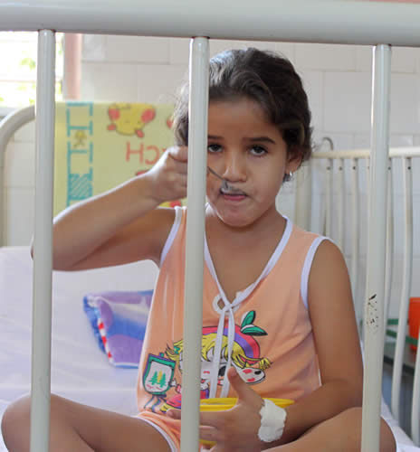 Patient in Pediatric Hospital, Guantánamo City.